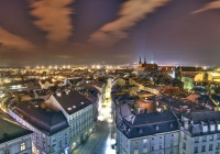 Olomouc at night from the Town Hall Tower