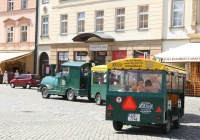 Tourist train rides through Olomouc