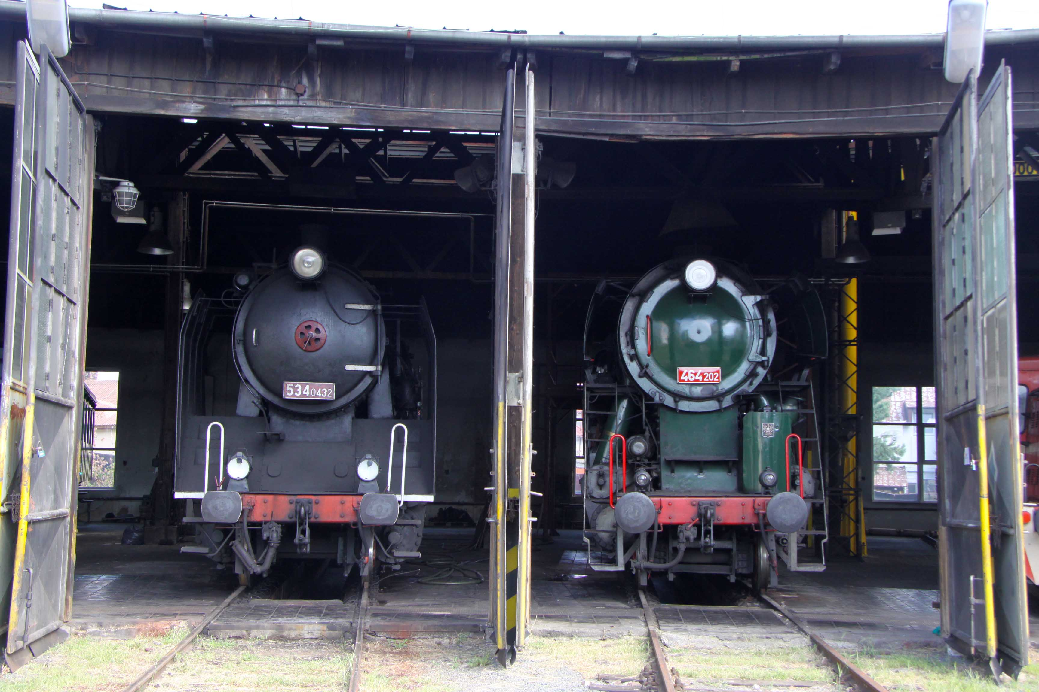 Exhibition of historic railway vehicles of the ČD Czech Railways Museum
