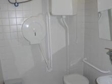 WC přízemí (levé křídlo od hlavního vchodu) prostory kabiny