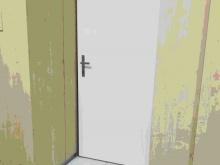 Dveře do školní jídelny